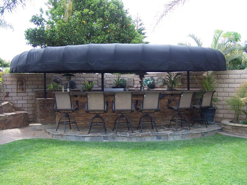 custom backyard bbq awnings
